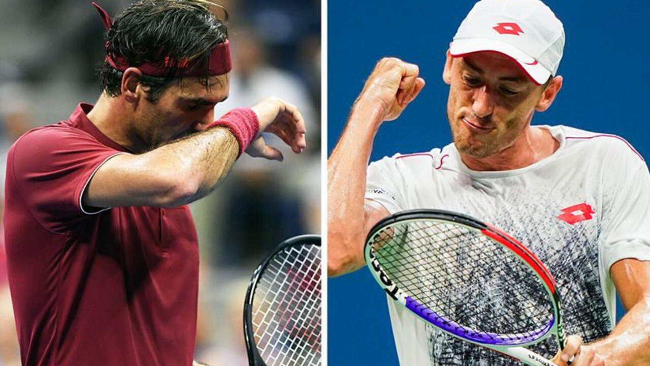 Roger Federer is happy to play John Millman on any court.