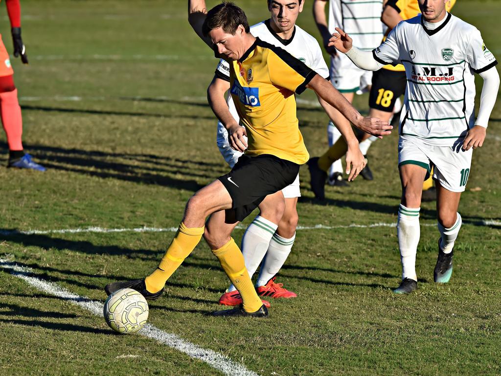 Sunshine Coast Wanderers golden boot winner Jeremy Stewart in action last year.