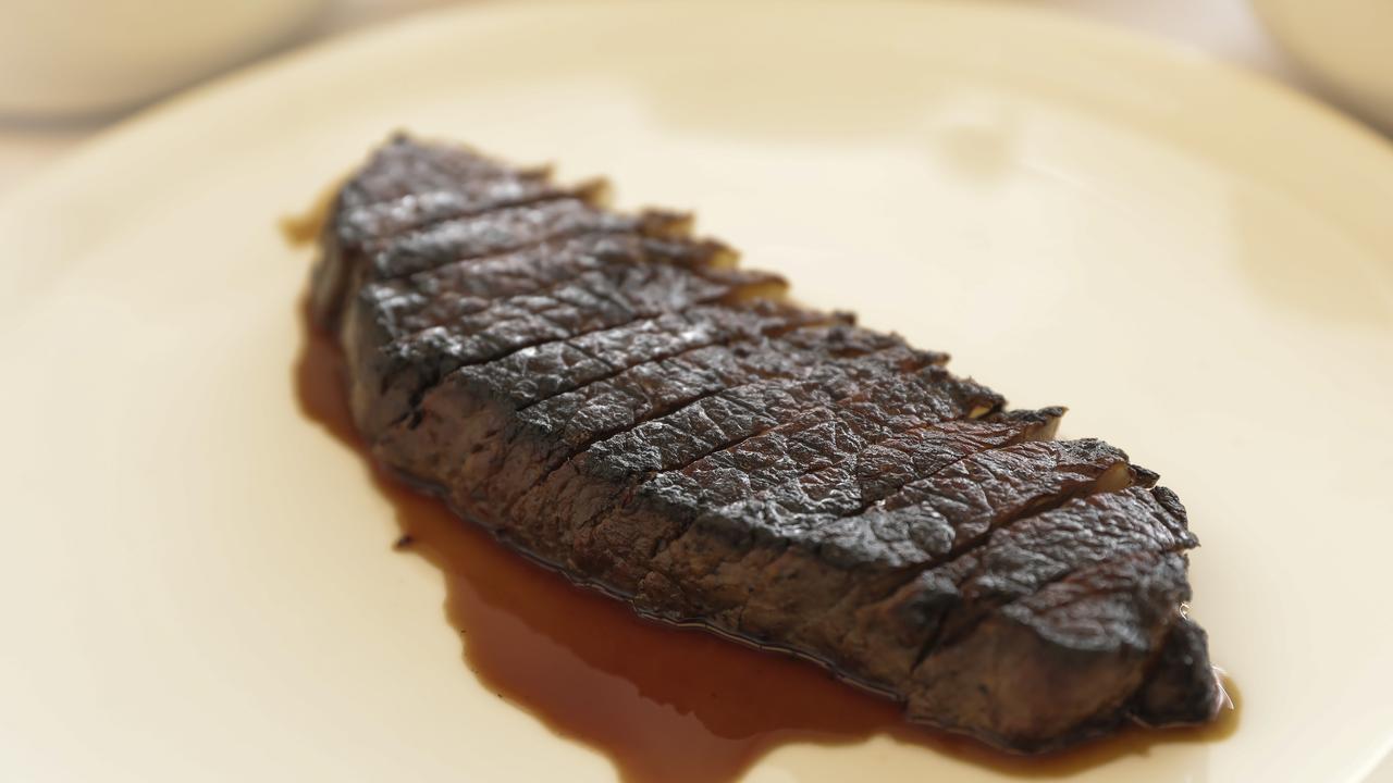 SK's sirloin steak. Picture: Mark Cranitch.