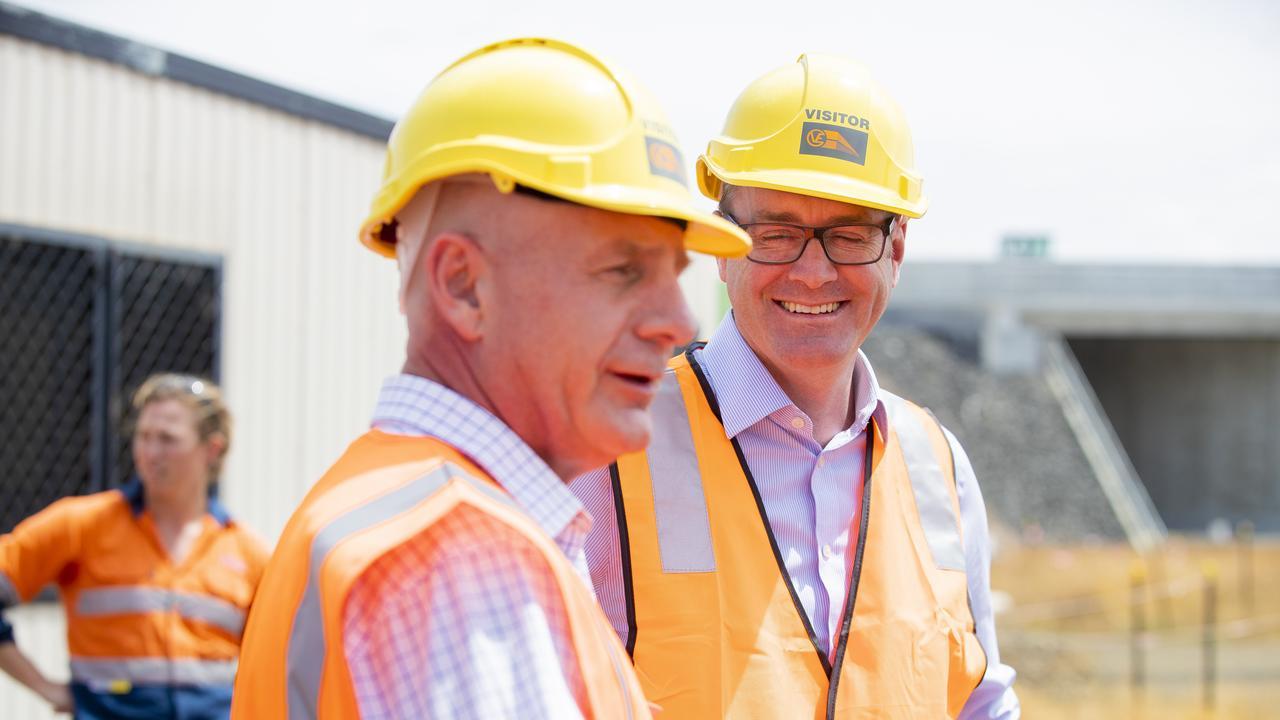 Premier Peter Gutwein and Michael Ferguson. Picture: RICHARD JUPE