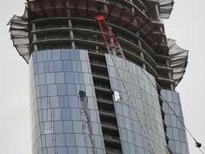 Crane smashes into $2.2b Crown Casino tower