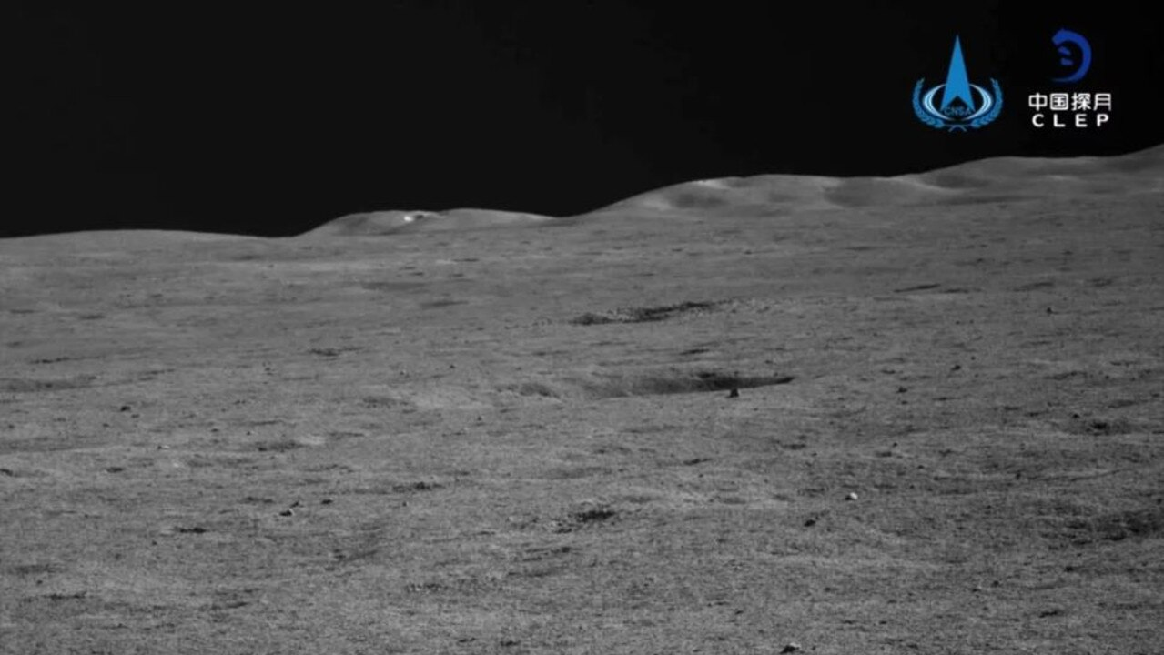 The vast, empty terrain of the moon meets the abyss of space. Picture: CLEP/CNSA