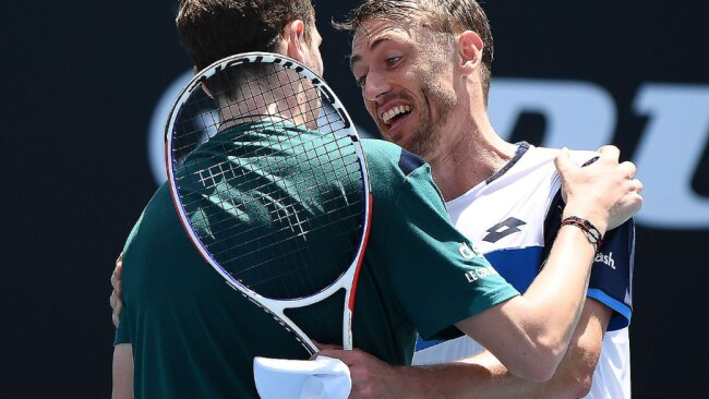 John Millman after his second round victory. Picture: AAP Images