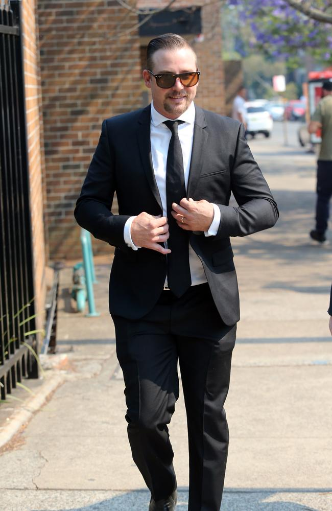 Stuart Webb pictured leaving Waverley Court in Sydney in April, 2019. Picture: Richard Dobson