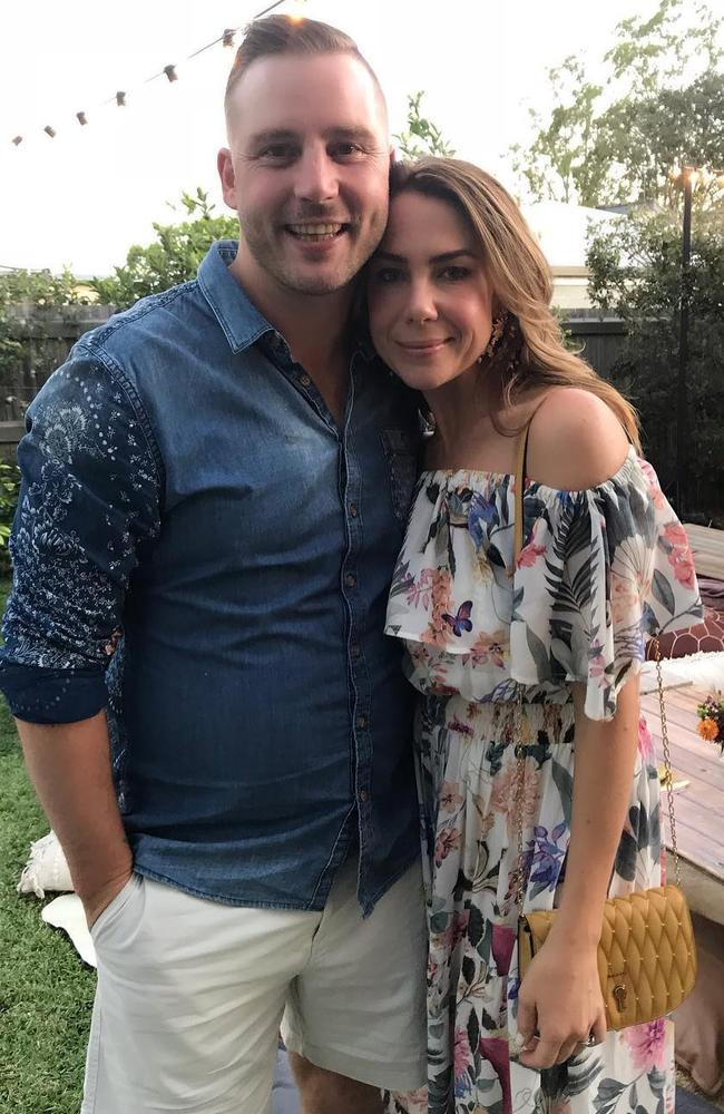 Kate Ritchie and husband Stuart Webb. Picture Instagram