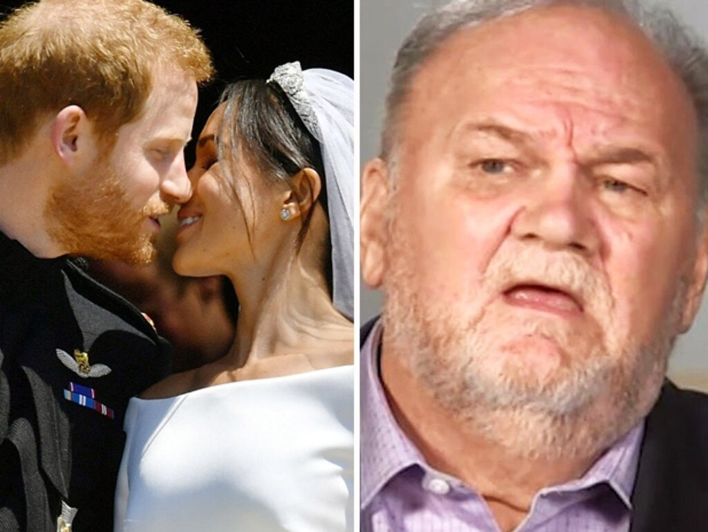 Thomas Markle was unable to attend the couple's wedding after he had a heart attack, however relations between father and daughter were already strained. Picture: ITV