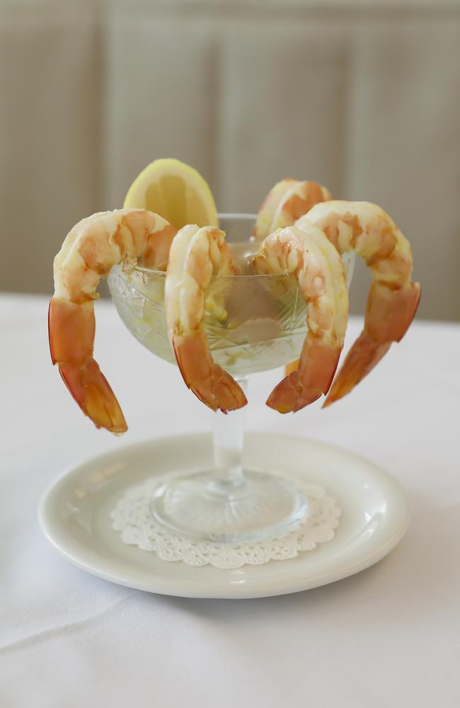 SK's prawn cocktail. Picture: Mark Cranitch