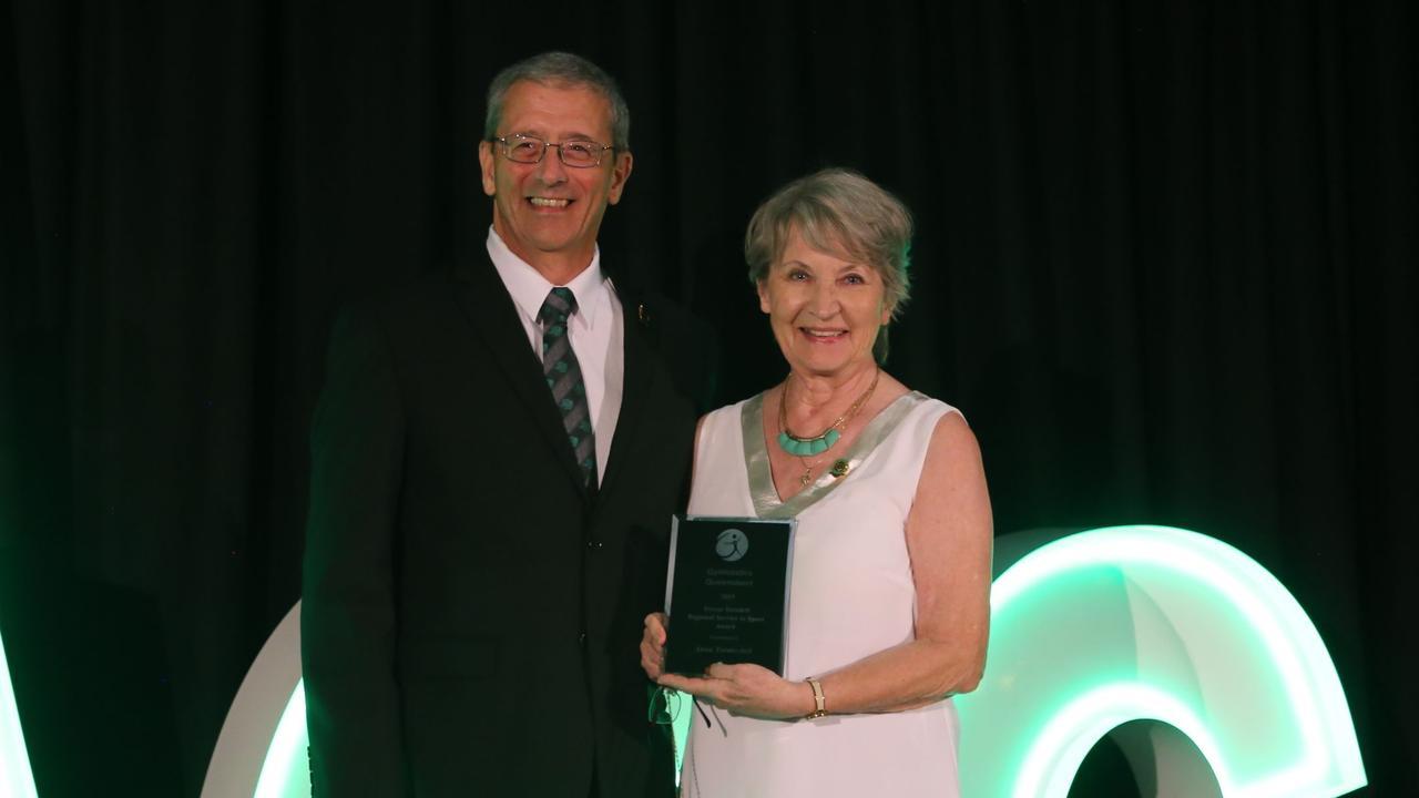 Trevor Dowdell & Anna Turetschek at the Gymnastics Queensland awards night.
