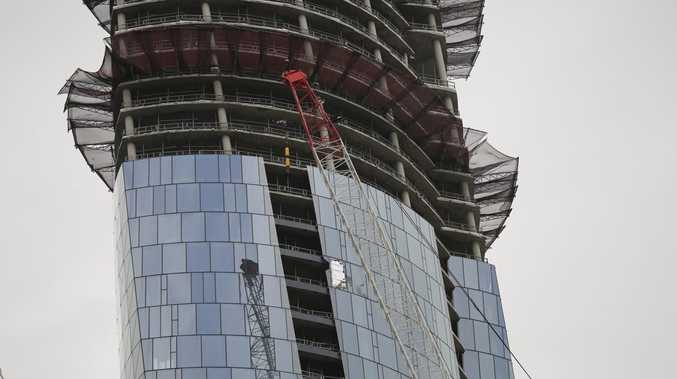 Crane smashes into $2.2b Crown Casino tower