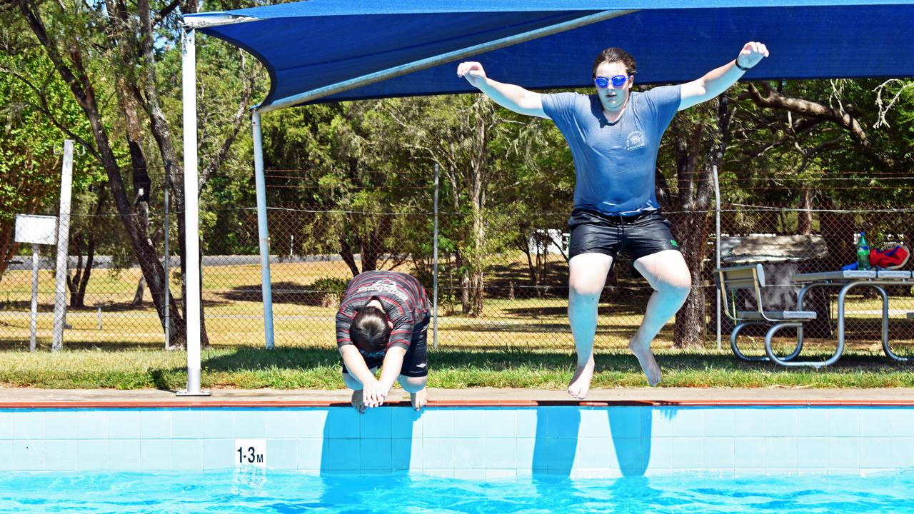 Jordan and Travis can take a dip on the Australia Day long weekend. Picture: SUSANNA FREYMARK