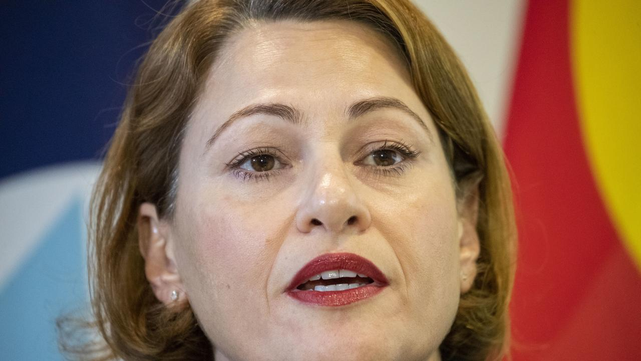 Queensland Deputy Premier and Treasurer Jackie Trad hands down the state's Mid-Year Economic and Fiscal Review 2019-20 in Brisbane, Thursday, December 12, 2019. (AAP Image/Glenn Hunt) NO ARCHIVING