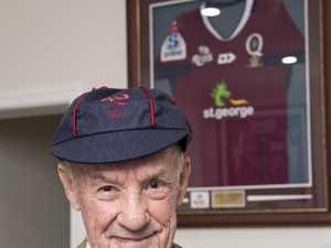 John Raff receives a Queensland Rugby cap in memory
