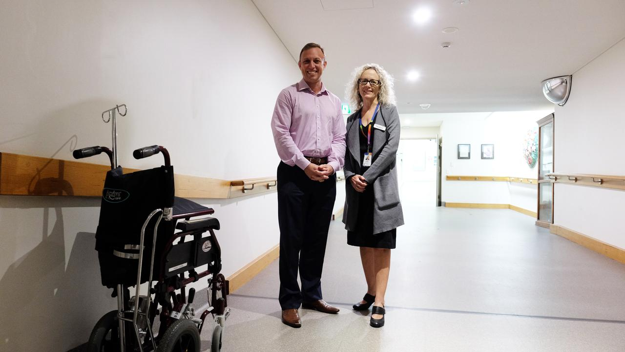 Minister for Health Steven Miles with chair of the Wide Bay Hospital and Health Service Peta Jamieson.
