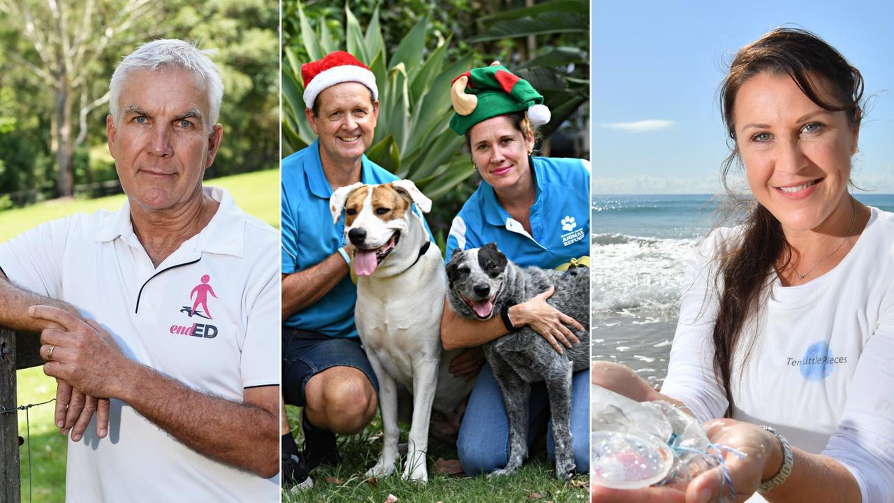 Mark Forbes, Sunshine Coast Animal Refuge and Ten Little Pieces are among those honoured in Sunshine Coast Council's 2020 Australia Day Awards. Photos (L-R): Patrick Woods, Warren Lynam, John McCutcheon