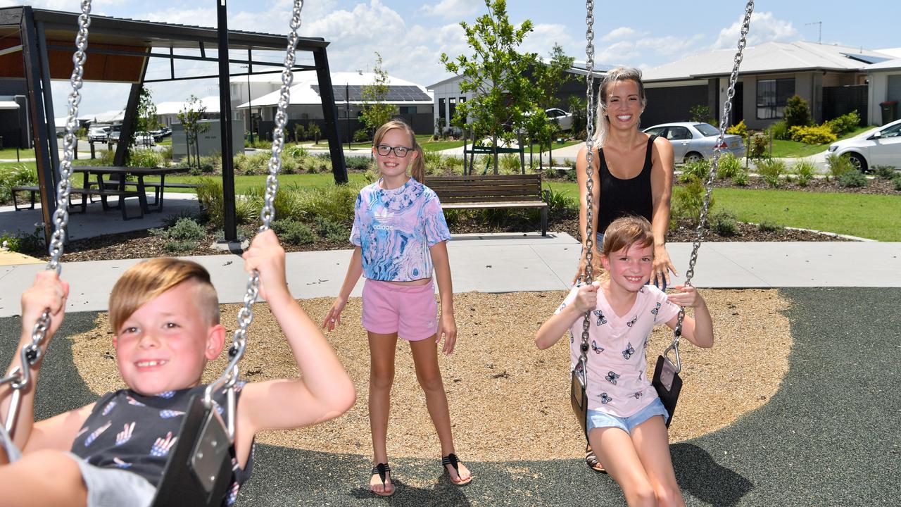 Amber, Indi, 11, Imogen, 9 and Ryder, 6 Huston love life at Aura. Photo: John McCutcheon / Sunshine Coast Daily