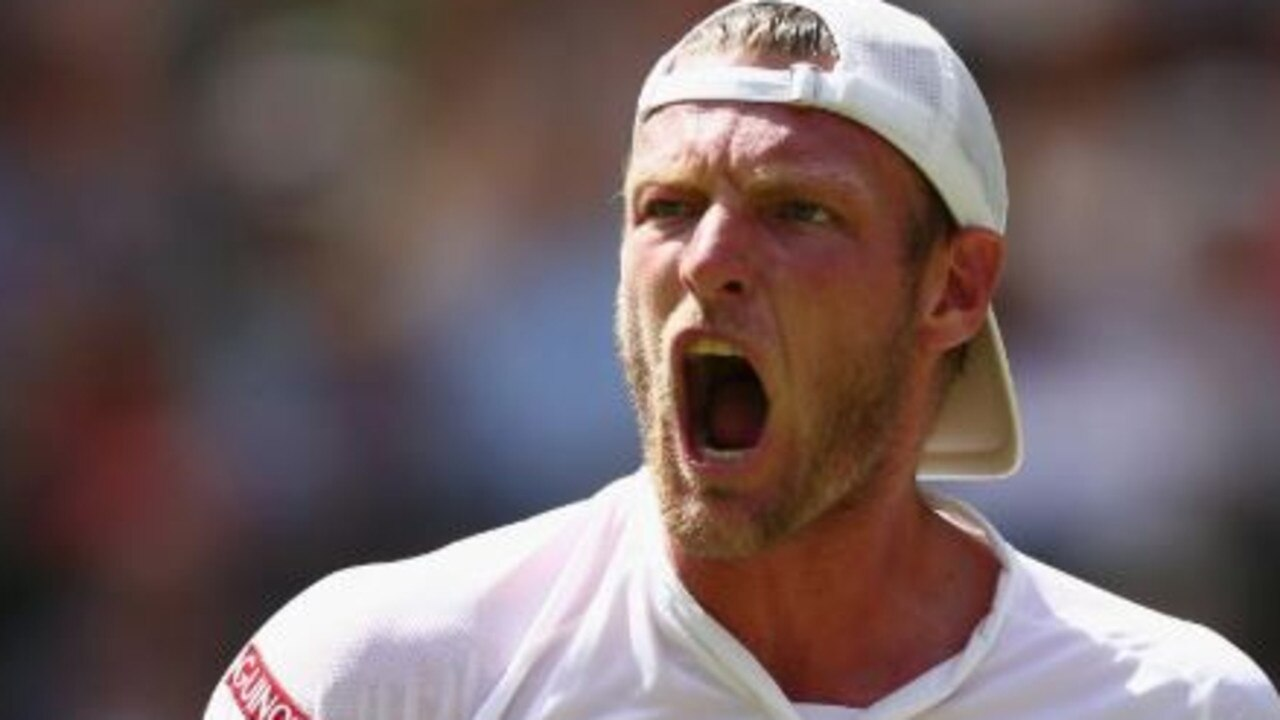 Sam Groth took a set off Federer at Wimbledon.