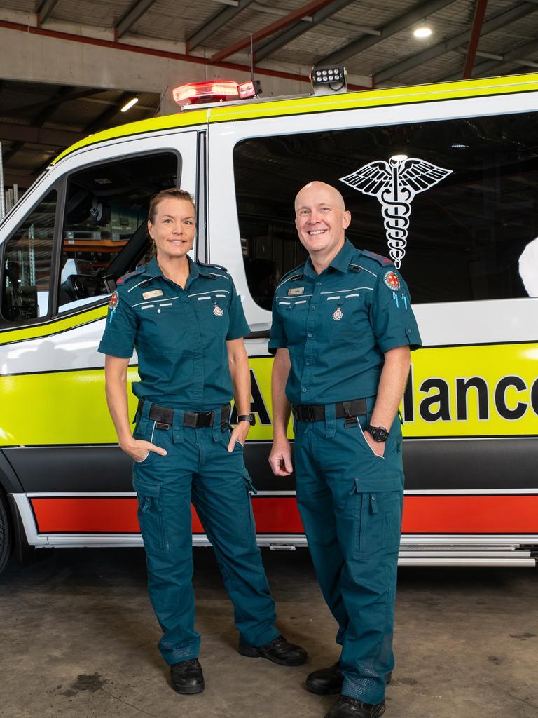 Andrew Roberts and Jan Burdekin, a Sunshine Coast couple featured on Network Ten's Ambulance Australia in 2020.