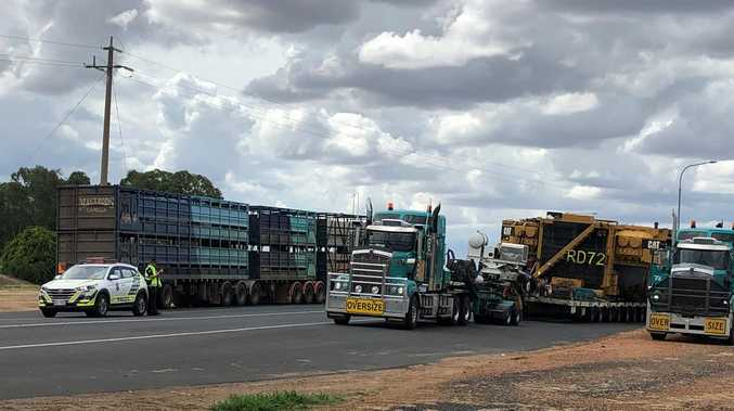 Truck tyre causes delays on highway