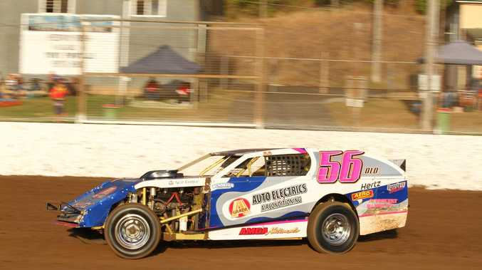 Speedway champions driving at double header glory