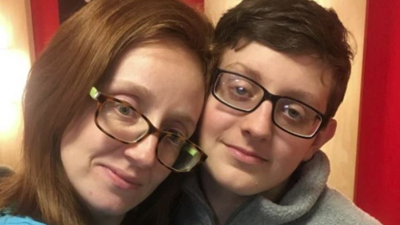 Landon Durham (right) allegedly stabbed his mother Holli Durham (left) and his two twin brothers to death. Picture: Facebook