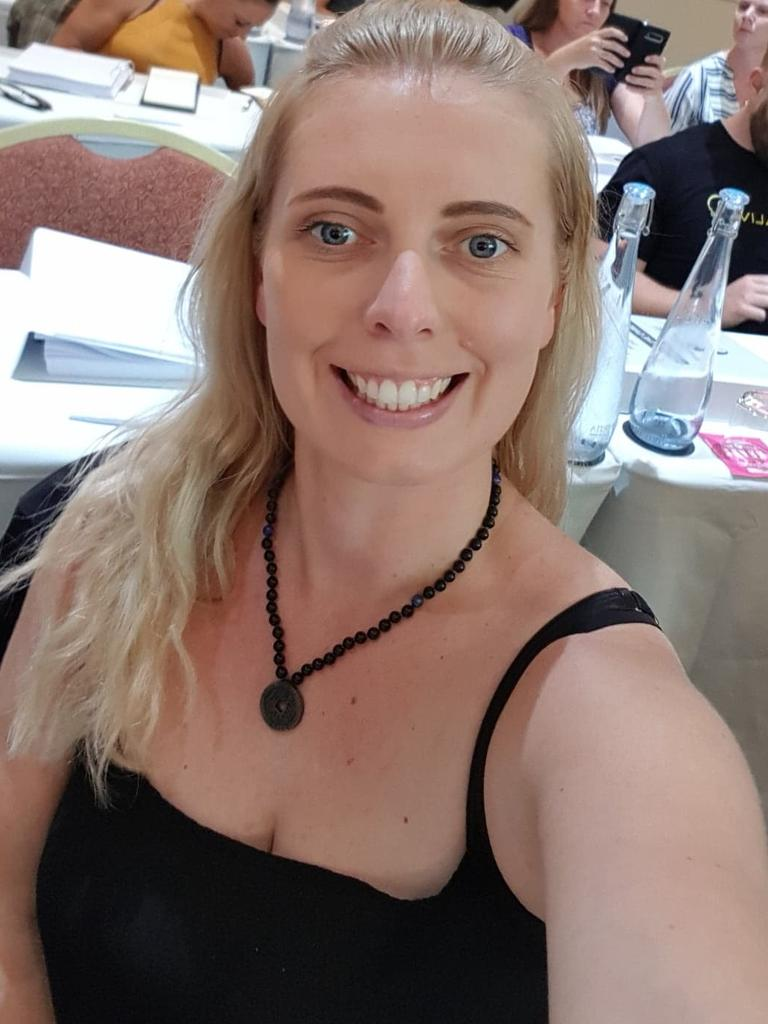 AFTER: Having found a way through her addiction, the mum-of-two now helps others through her coaching business. Picture: Facebook/Renee Claire