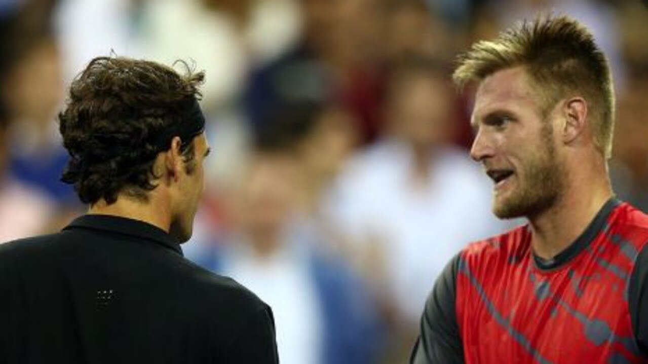 Federer and Groth met at the US Open in 2014.