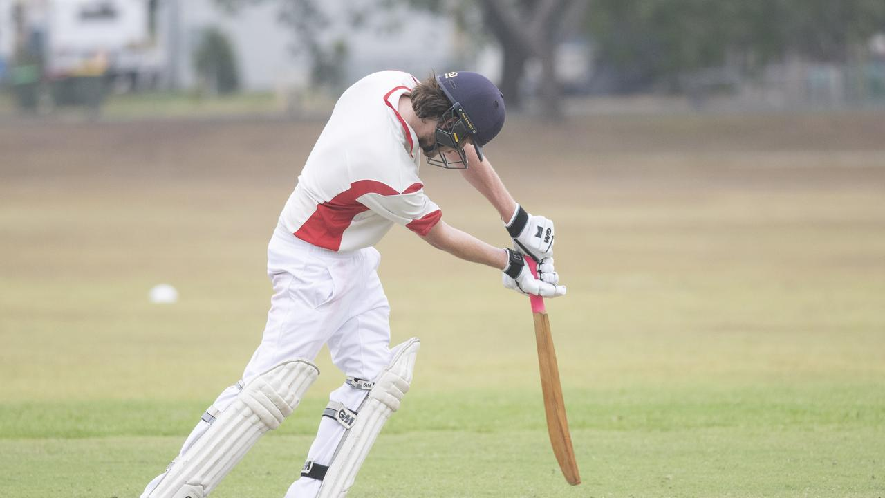 Dylan Cleaver drives in Premier League match between South Services and Coutts Crossing