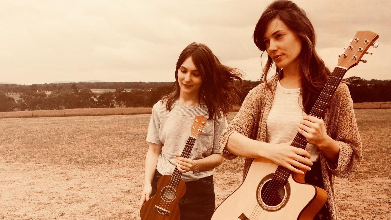 BIG SHOT: Nine Year Sister members Emma and Jennie Wardle.