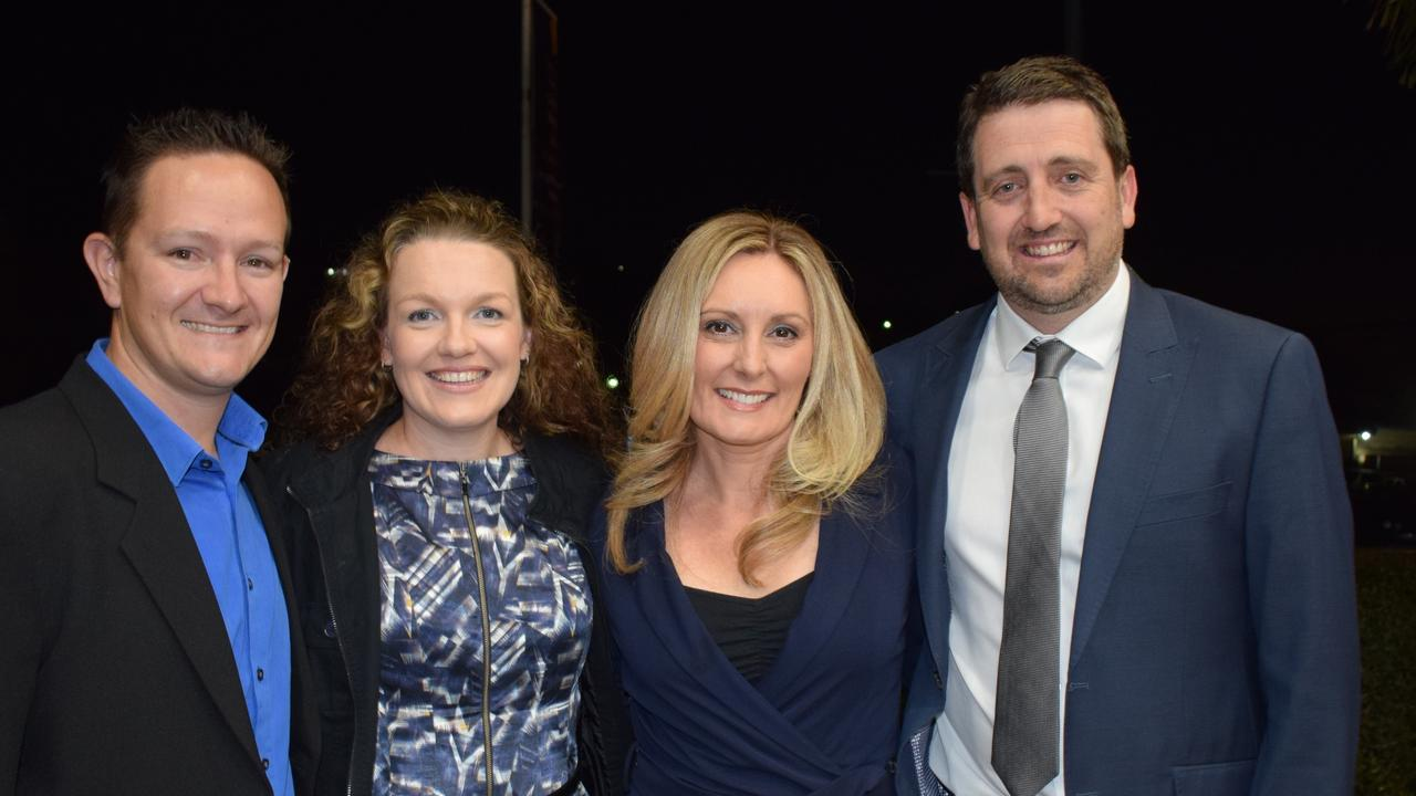 Brad Chapman, Michelle Chapman, Caroline Madill and Adam Madill at the Gympie Business Awards.