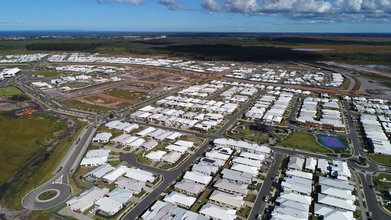 FILE. Aerial photos of housing development Aura, taken last year.