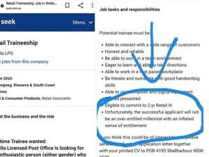 Fury over 'entitled millennial' Aussie job ad