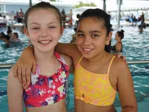 Kaydee Obrien, 10, and Riley North, 9.