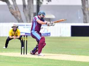 Cricket action in Caloundra between Caloundra and