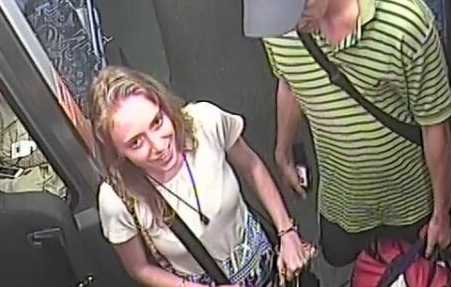 Police are searching for this woman after she allegedly spat in a bus driver's face at Maroochydore earlier this month.