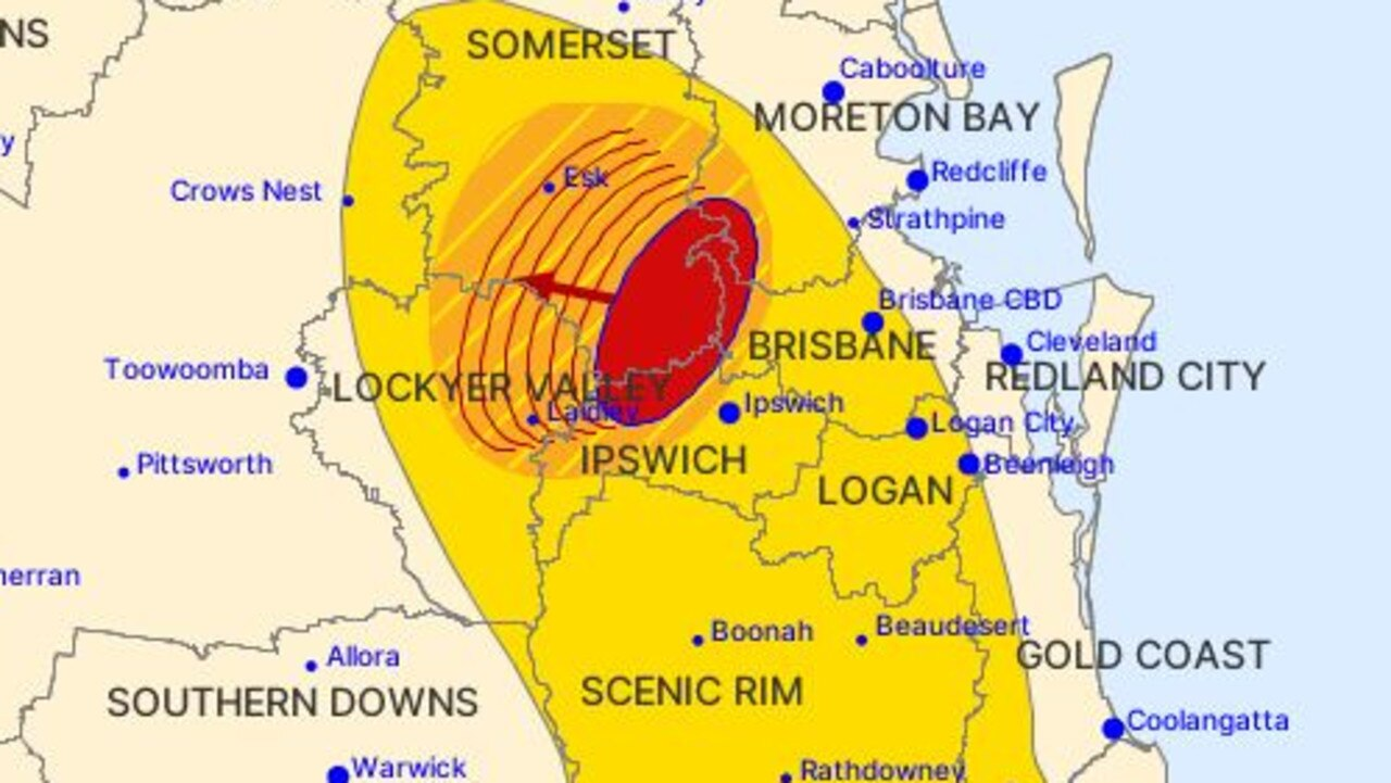 A storm warning has been released for parts of southeast Queensland.