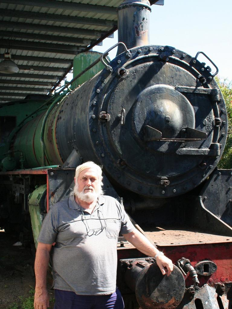 The late Peter Ford from Mackay Heritage Railway Incorporated.