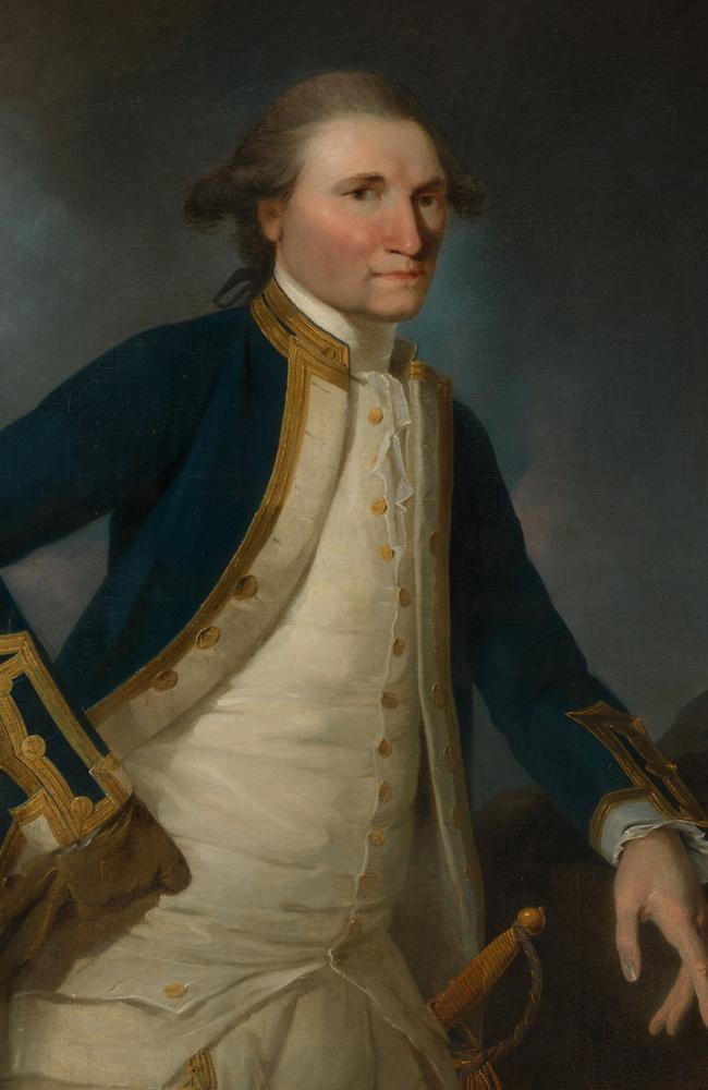 Portrait of Captain James Cook in 1782 by John Webber. Picture: National Portrait Gallery, Canberra