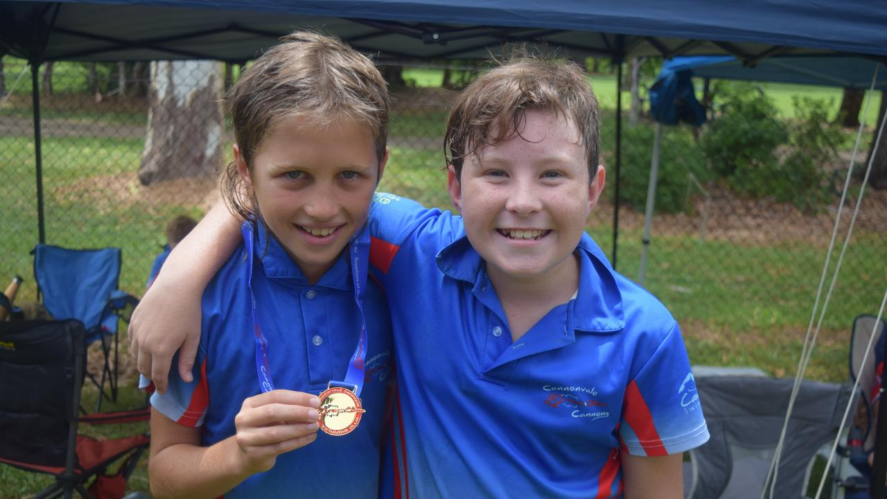 Jai Dennison, 10 and Rohan Gascoine, 11 from the Cannonvale Cannons. Image: Laura Thomas