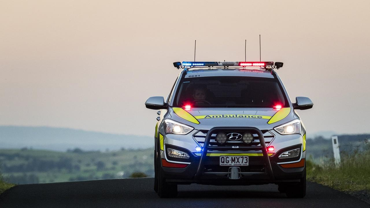 ON SCENE: Paramedics were called to Leyburn after alleged wounding last night.