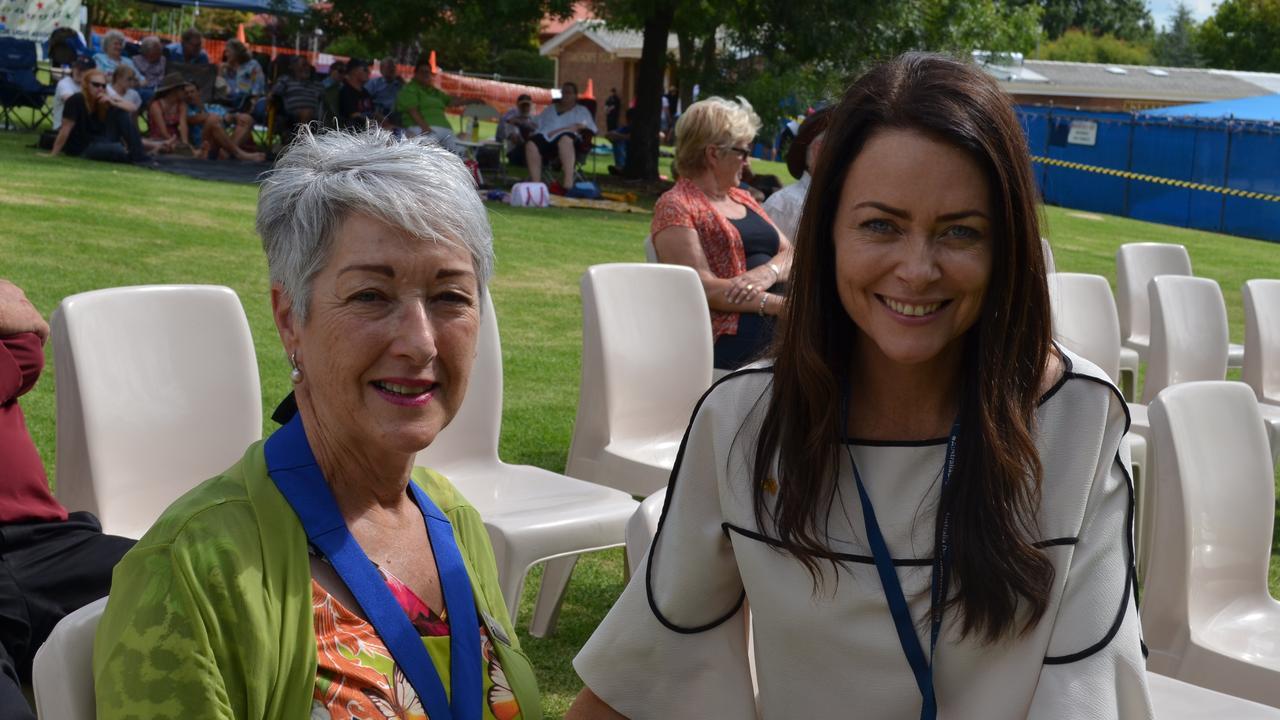 Southern Downs Regional Council Mayor Tracy Dobie with Australia Day Ambassador Juliette Wright.