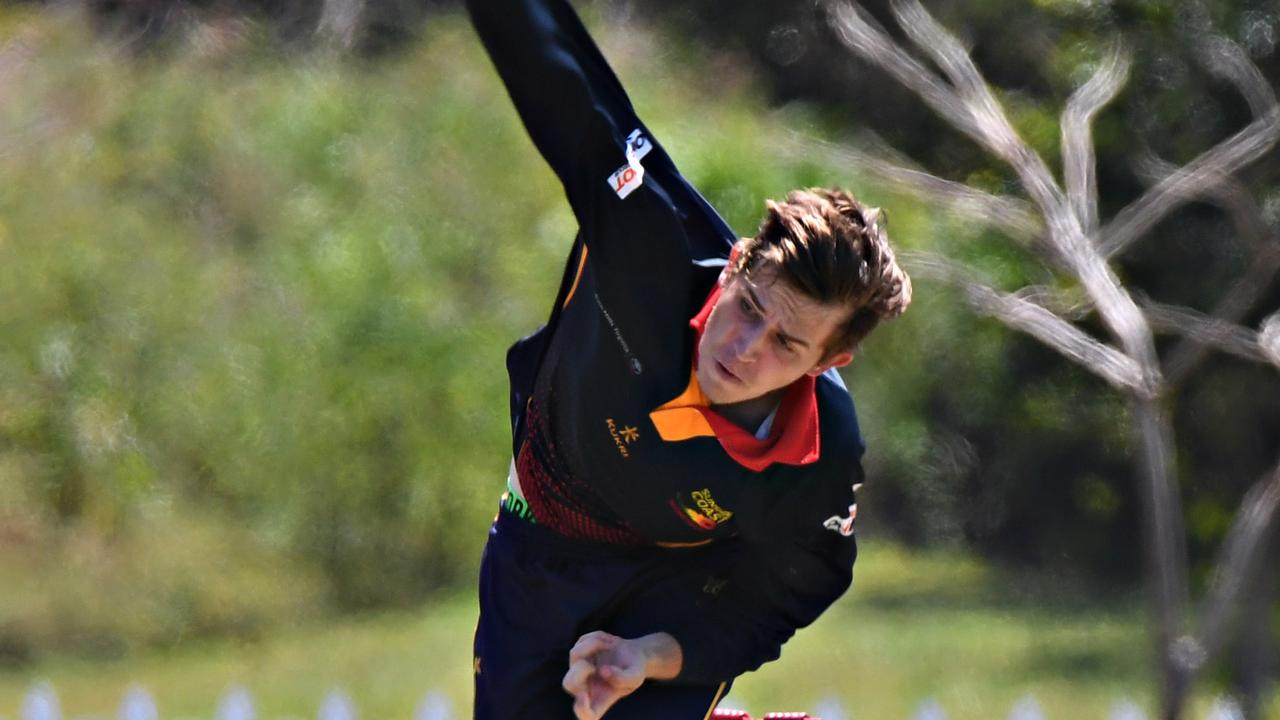 Sunshine Coast Scorchers bowler Lleyton Chick. Photo: Warren Lynam
