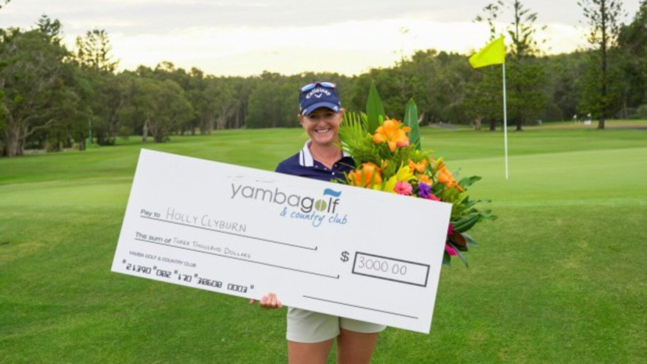 WINNER: England's Holly Clyburn recovered from the flu to take out the 2020 ALPG Findex Yamba Pro-am.