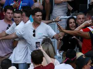 Seats splattered in blood after ugly tennis brawl