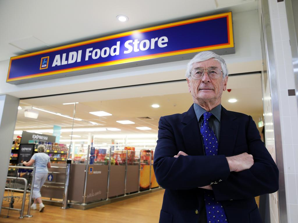 Dick Smith pictured outside Aldi. Picture: Tim Hunter.