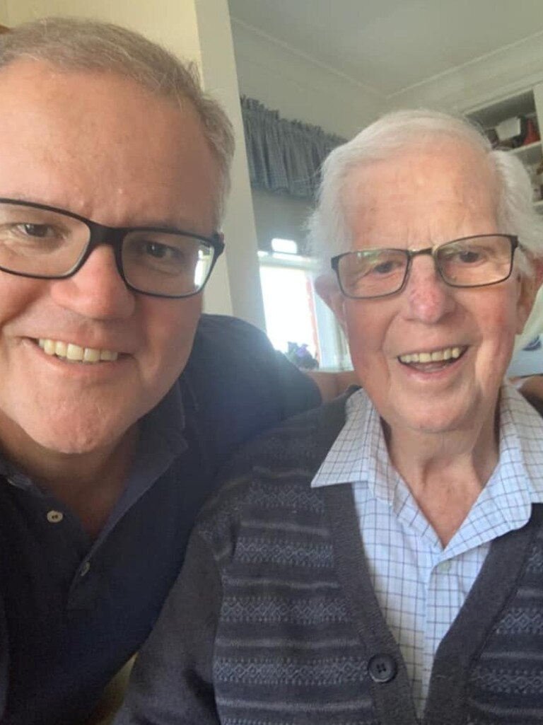 Scott Morrison with his father John Morrison. Picture: Facebook