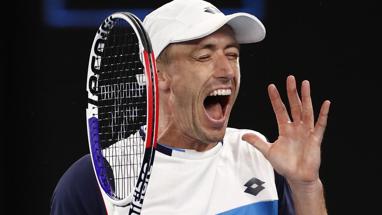 John Millman battled Roger Federer for more than four hours.