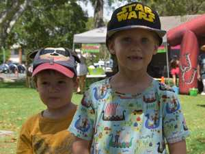 Brothers Finn, 3 and Hugo Laitala, 6 at the Australia
