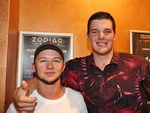 L-R Cam Brown and Zac Baldwin at Zodiac Nightclub.