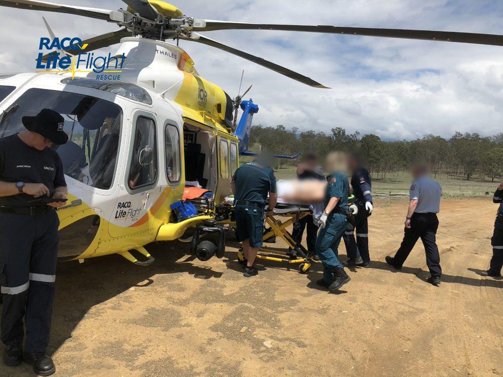 A man has been taken to hospital after a light plane crash.