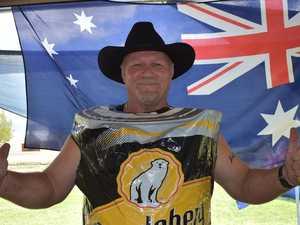 Celebrating in true Aussie style